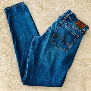 Lucky Brand Sofia skinny med wash sz 6/28 EUC